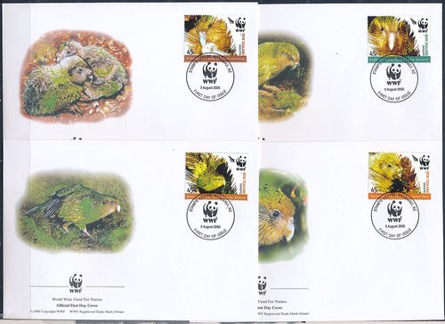 WWF FDC NEW ZEALAND