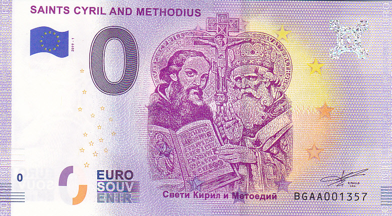 0 Euro Souvenir Bulharsko 2019 - Saints Cyril and Methodius