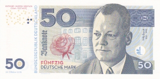 50 DM Willy Brandt UNC 2018